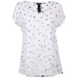 Damen Shirt mit Chiffonlage und Print