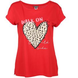 Dame Shirt mit Herzprint