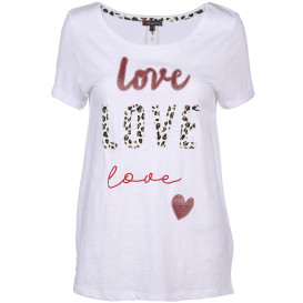 Damen Shirt mit Love-Aufschrift