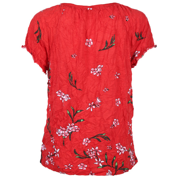 Damen Crash Shirt mit floralem Alloverprint