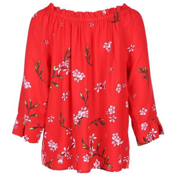 Damen Schlupfbluse im floralen Look