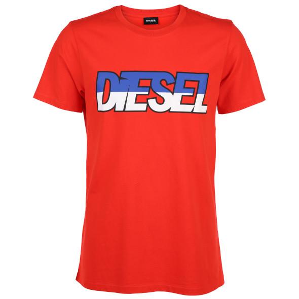 the best attitude 2394d 70e85 Herren Diesel T-Shirt mit kontraststarkem Print
