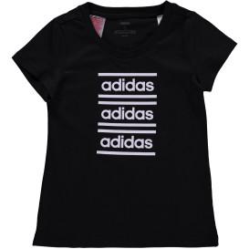Mädchen Sportshirt mit Labelprint