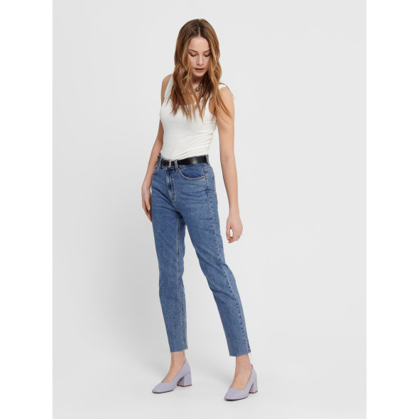 Only ONLEMILY HW ST RAW ANK Jeans