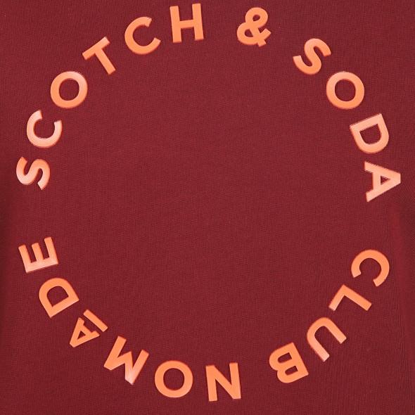 Herren Scotch&Soda Sweatshirt mit erhabenem Print