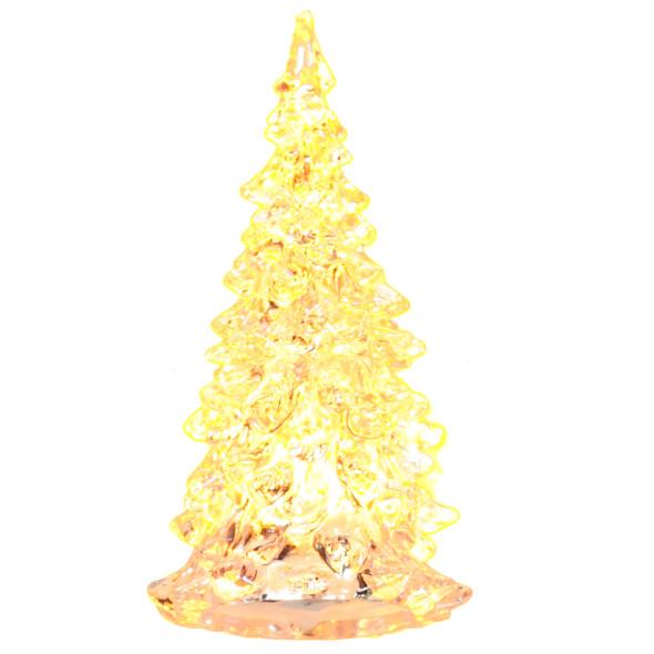 Weihnachtsbaum aus Plexiglas mit LED-Beleuchtung, Größe 11cm
