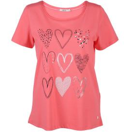 Damen Shirt mit Herzchen Print