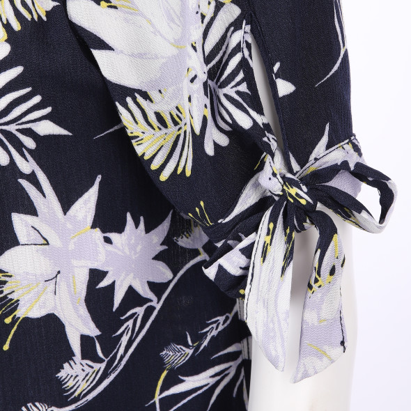 Damen Carmenshirt mit Blumenprint