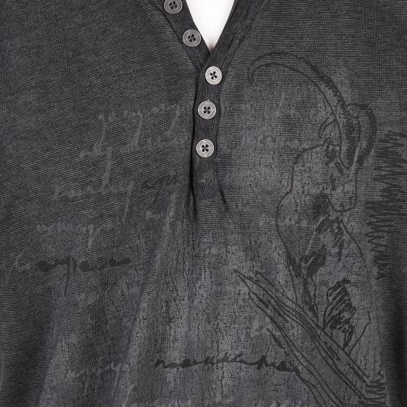 Herren Henleyshirt mit Print
