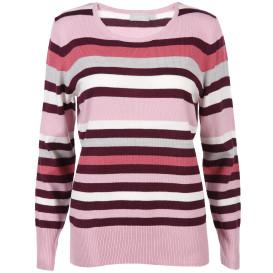 Damen Cashmere-Like Pullover mit Streifen