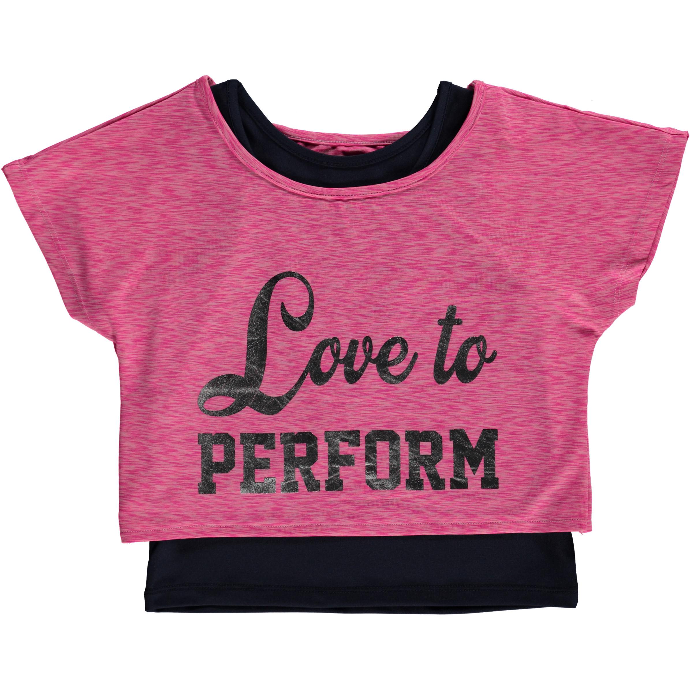Mädchen Sport Shirt 2tlg.