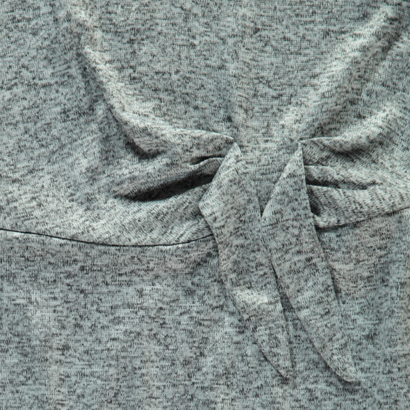 Mädchen Kleid in melierter Optik