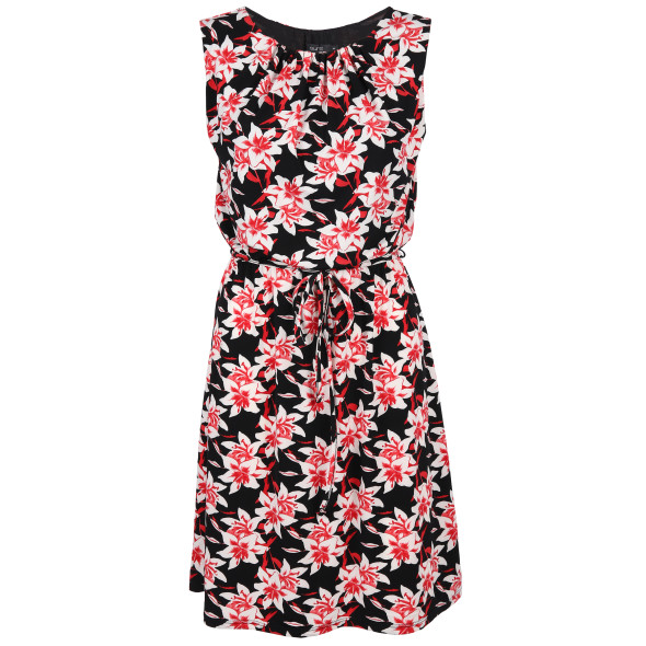Damen Jerseykleid mit Blumen