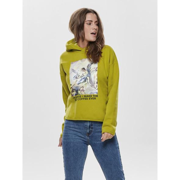 Only ONLNEO L/S BAROQUE HO Kapuzensweatshirt mit Frontprint