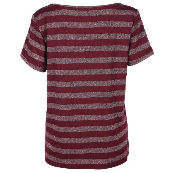 Only ONLALEXA S/S V-NECK T Shirt mit Glitzerstreifen