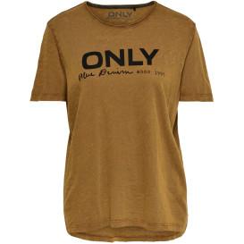 Only ONLLOGO SLUB AUTUMN D T-Shirt mit Print