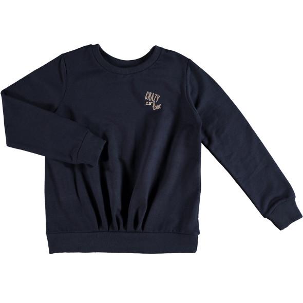 Mädchen Sweatshirt mit kleinem Glitzerprint