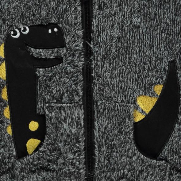 Baby Kuscheljacke mit Kapuze und Dinomotiv
