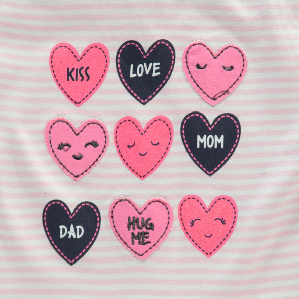 Baby Langarmshirt mit Applikationen und Print