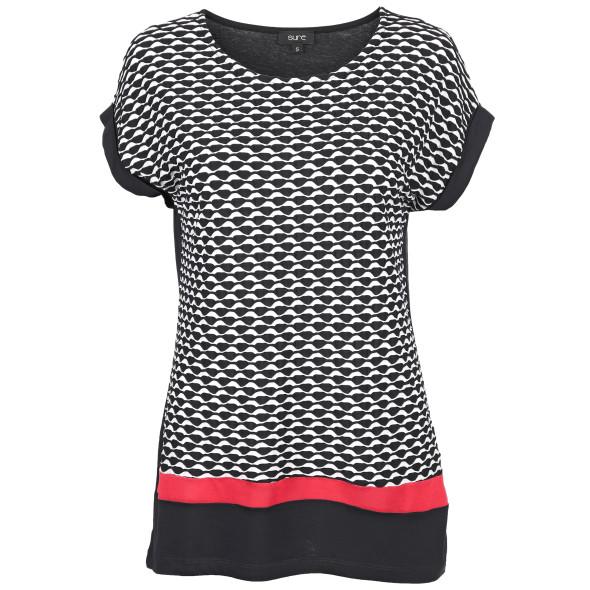 Damen Shirt mit Kontrasteinsatz
