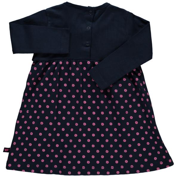 Baby Kleid im 2in1 Look mit Alloverprint und Stickerei-Applikationen