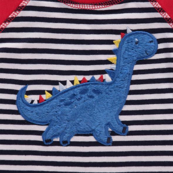 Baby Longsleeve mit Dinoapplikation