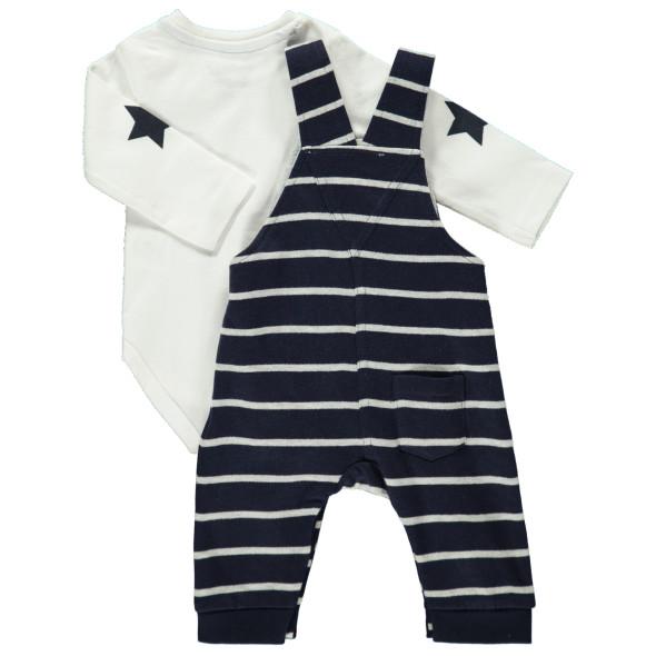 Baby Set, 2tlg., best. aus Body und Latzhose