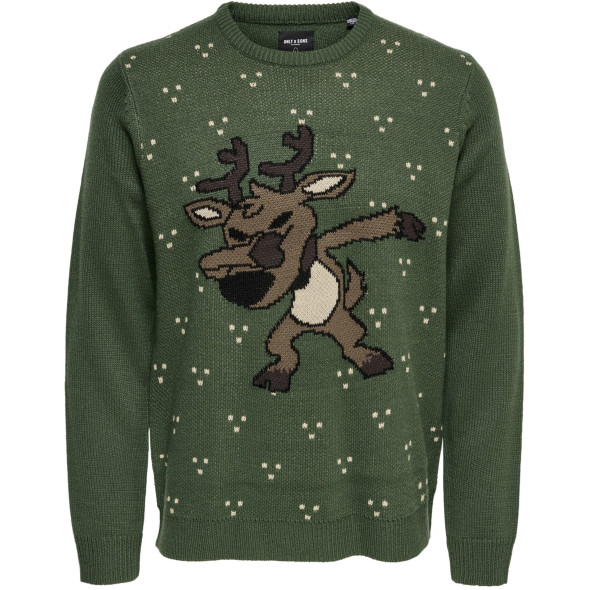 Only&Sons ONSXMAS 7 FUNNY DAP J Strickpulluver