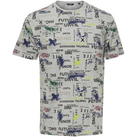 Only&Sons ONSAAMALETTA SS AOP R T- Shirt