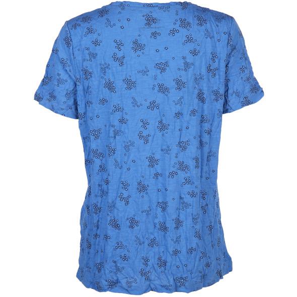 Damen Crinkle Shirt mit Minimalprint