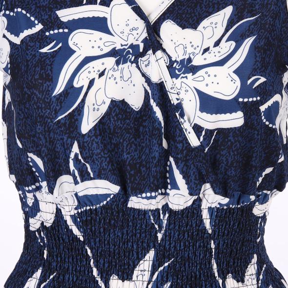 Damen Druckkleid mit V-Ausschnitt
