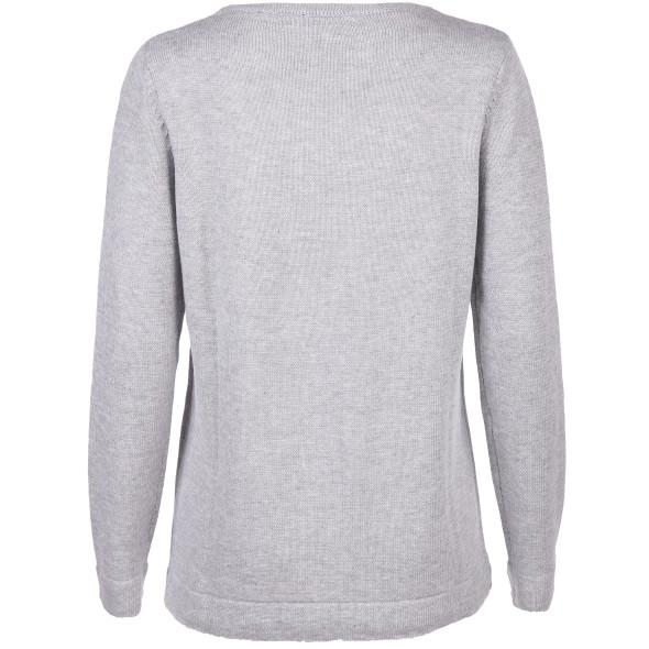 Damen Pullover mit Strass- und Nietenbesatz