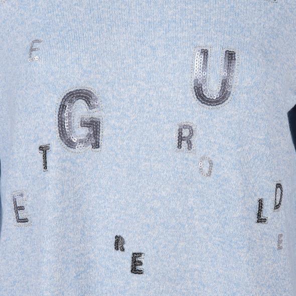 Damen Feinstrick Pullover mit Buchstabendesign