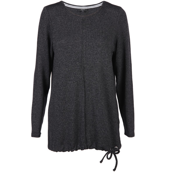 Damen Feinstrick Pullover mit Bindeband