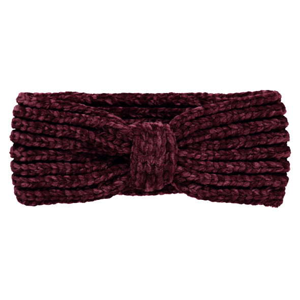 Damen Chenille Stirnband mit Knotendesign