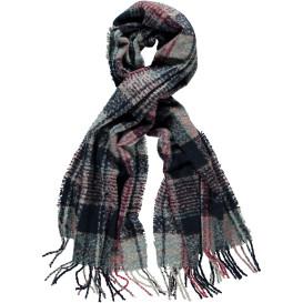 Damen Boucle Schal mit Karomuster