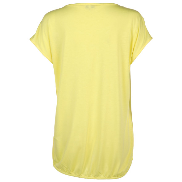 Damen Chiffon Shirt mit Tropfenausschnitt