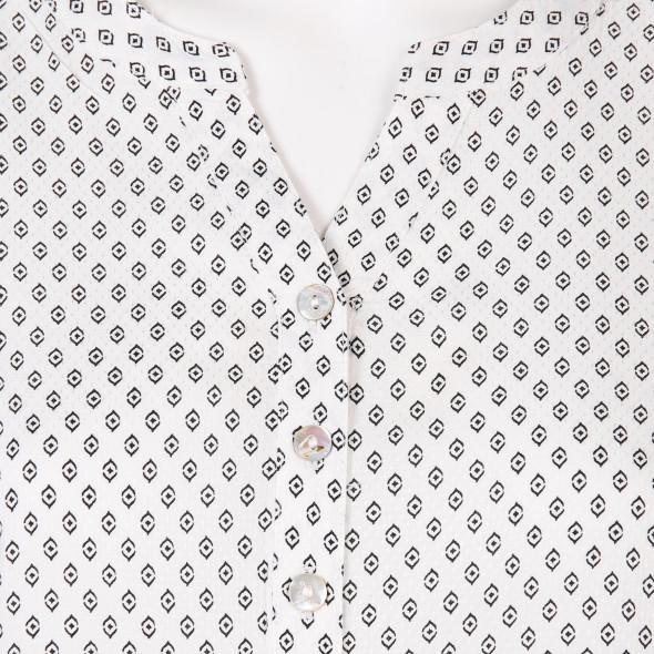 Damen Schlupfbluse mit Minimalprint