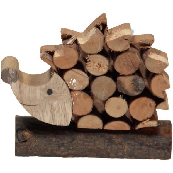 Deko-Igel aus Holz 7cm hoch