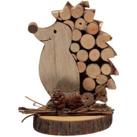 Deko-Igel aus Holz 13cm hoch