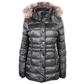 Damen Winterjacke mit abnehmbarer Kapuze und abnehmbarem Kunstfell