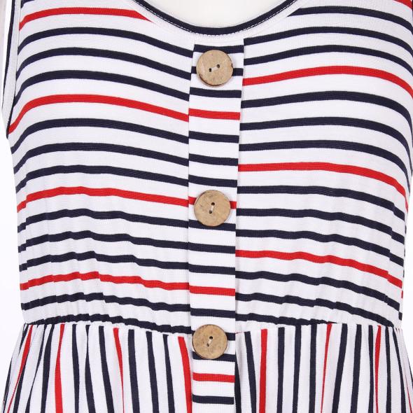 Damen Jerseykleid mit Knopfleiste
