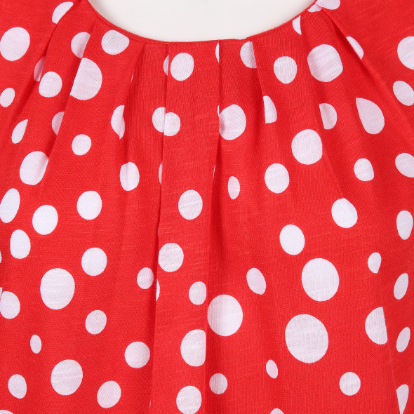 Damen Top mit Polka Dots