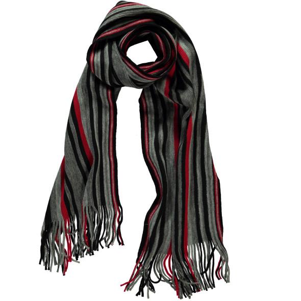 Herren Schal mit Streifen, 160x30cm