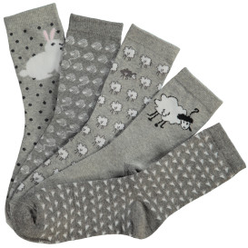 Damen Stricksocken im 5er Pack
