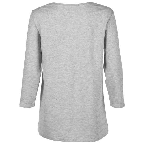 Damen Shirt mit zarten Glitzerstreifen