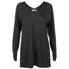 Damen Pullover mit beidseitgem V-Ausschnitt