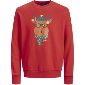 Jack&Jones JORSNOWFLAKE SWEAT CREW NECK Pullover mit Weihnachtsmotiv