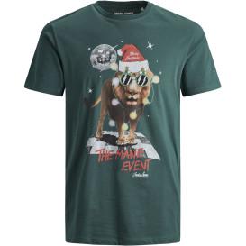 Jack&Jones JORJINGLE TEE SS CREW NECK Shirt mit Frontprint