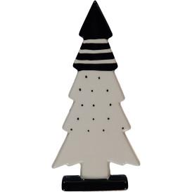 Porzellan Weihnachtsbaum 8,4x4x25cm